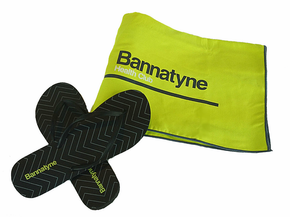 Branded Towel and Flip Flops for Health Club